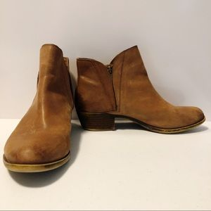 Lucky Brand Brenton brown leather bootie, 9.5M